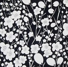 1/2 YD ALEXANDER HENRY NOBI BLACK & WHITE MADE IN JAPAN HY COTTON CRAFT FABRIC