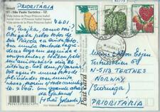 81775 - BRAZIL - POSTAL HISTORY -  POSTCARD to NORWAY  2001 - FRUIT