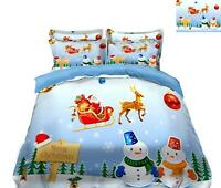 3D Sleigh Reindeer O021 Christmas Quilt Duvet Cover Xmas Bed Pillowcases Fay