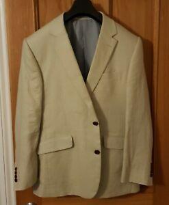 Austin Reed Mens Suit Jacket - Cream Beige - Size 44 s