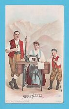 NATIONS - SINGER SEWING - RARE NATIONS / ADVERTISING CARD -  APPENZELL - 1894