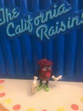 """California Raisins, Mrs. Marvelous with Tambourine and Green Shoes, 2 1/2"""" Tall"""