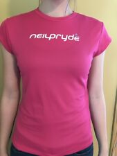"""Neil Pryde Ladies Short Sleeve Hydrotex Top """"Flowers"""" New size Small"""
