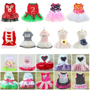 Cute Puppy Pet Dog Tutu Dress Lace Skirt Cat Princess Dress Small Dog Clothes