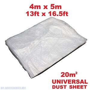4x5m Large Dust Sheet Polythene Clear Cover Painting Decorating Furniture DIY