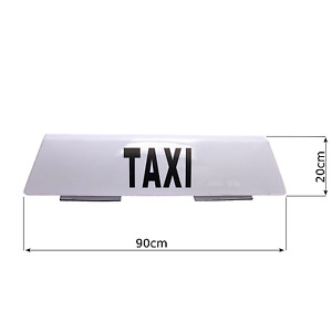 90cm Magnetic Taxi Roof Sign Aerodynamic Taximeter Cab Top Lamp 12V White Light