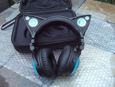 Brookstone Wired Cat ear headphones in case