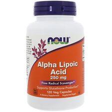El ácido alfa lipoico - 120 - 250mg cápsulas vegetarianas por Now Foods-Antioxidante Universal
