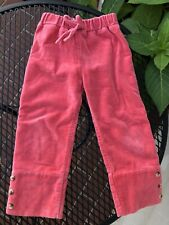 Kate Quinn Organic Toddler Girls Velvet Pants - Size 3T
