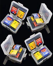 4 X 8en1 Tarjeta De Memoria Sd casos-Sdhc Protector de almacenamiento de 8 Gb 16 Gb 32 Gb