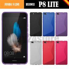 Funda gel Sline Huawei P8 LITE + protector cristal + lapiz + memoria opcional