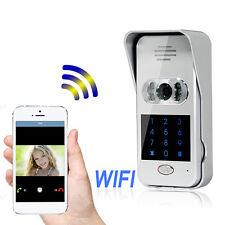 Hot Wireless Wifi/IP Doorphone Video Unlock Camera Phone Intercom Doorbell New!