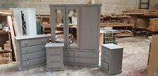 TULIP BEDROOM GREY 4 PIECE SET FULLY ASSEMBLED