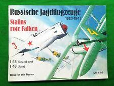 Russische Jagflugzeuge 1920-1941 Stalins Rote Falken Polikarpov I-15 16 falcons