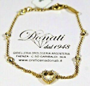 Bracciale Donna in Oro Giallo 18 KT 750/°°° Cuore con Zirconia Cubica