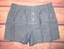 Mens H&M Steel Blue Woven Boxer Shorts Size M (31/33)