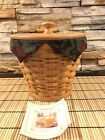 New Longaberger 2002 Autumn Pail Basket with Protector, Liner & Lid