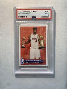 LeBron James 2012-13 Panini Sticker #252 NBA Finals MVP SP PSA 9 Mint LOW POP 9