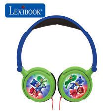 Lexibook Kids PJ máscaras Plegable Estéreo en Oído Auriculares Con Limitador De Volumen