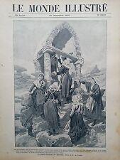 LE MONDE ILLUSTRE 1905 N 2539 LA SAINTE CATHERINE EN BRETAGNE PRES DE PLOUMANACH