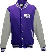 Varsity College Jacke mit Wunschdruck viele Farben Partnerlook Jacken S6904164r