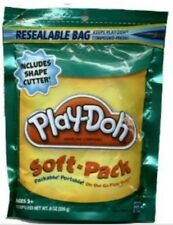 PLAY-DOH SOFT PACK  AND 1 SHAPE CUTTER RESEALABLE BAG TEAL GREEN: NEW