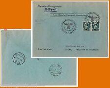 64195 - ITALIA: LITORALE ADRIATICO Kusterland - STORIA POSTALE: BUSTA  25.4.1945