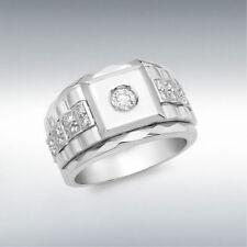 Band White Gold Rings for Men