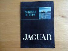 Jaguar Series 3 E-Type Publicity Sales Brochure
