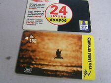2 x SRI LANKA used GPT cards  38SLRB/44SLRF