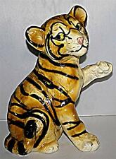 CUTE LARGE HEAVY VINTAGE FIRESIDE TIGER CUB FIGURE FIGURINE ORNAMENT 35cm HIGH