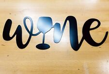 wine sign metal wall art plasma cut home decor gift idea