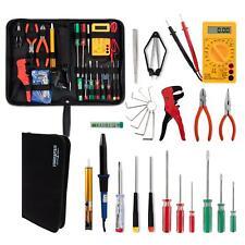 Elektro Werkzeug Set Schraubenzieher Lötkolben Multimeter Zangen Elektronikset
