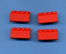 Lego--3037--Dachstein--Dachziegel-- 4  Stück--- Rot -- 2 x 4 -  45° --