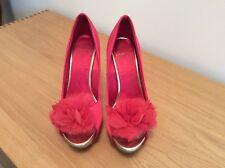 Carvela Ladies High Heeled Shoes Size 4 (37) Red