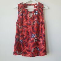 Collective concepts stitch fix floral keyhole sleeveless top size S