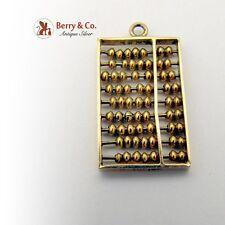 Vintage Abacus Charm 14 K Gold