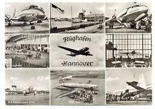 1955 HANNOVER  Airport Mixed  Photos Postcard