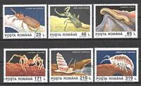 Insectos Rumania (27) serie completo de 6 sellos matasellados