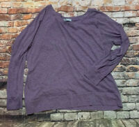 Women's Maurices Long sleeve Scoop Neck blouse  XL Purple Banded