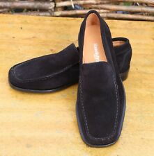 RUSSELL & BROMLEY Men's Black Suede Loafers Shoes, Size EU 40.5 / UK 6.5