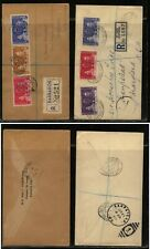 Barbados St Lucia 2 1937 registered coronation covers Ms0117
