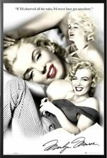 Framed Marilyn Monroe (Rules, Quote) Movie 24x36 Wood Framed Poster Art Print