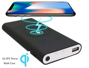 10000mAh Qi Wireless Charger Power bank case  (Battery not included)