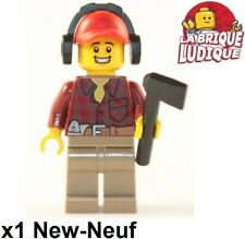 Lego Figurine Minifig City Flannel Shirt chemise mécanicien outil casque NEUF
