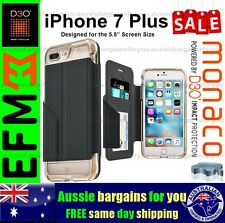 iPhone 7 Plus Case EFM Monaco Wallet D3O Card Cover Crystal Gold Tough Slim