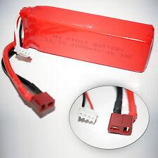 FT012 11,1v 3S 2800mAh 30C Tuning Akku Batterie Li-po Lipo RC Boot T-Plug Feilun