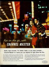 Channel Master 1964 Radio Tape Recorder TV Walkie Talkie Vintage Dealer Brochure