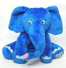 """World of Eric Carle Plush Elephant Royal Blue 10"""" Stuffed Animal Sewn Eyes"""