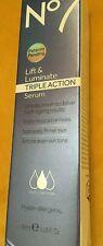 BRAND NEW NO.7 LIFT & LUMINATE TRIPLE ACTION SERUM - 30ML - RRP £27